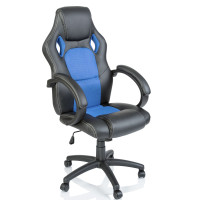 Racing Irodai szék - Fekete/világos kék