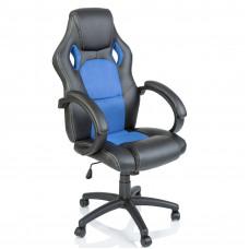 Racing Irodai szék - Fekete/világos kék Előnézet