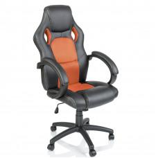 Aga Racing Irodai szék RS016 - Fekete/narancssárga Előnézet