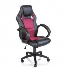 Racing Irodai szék - Fekete/rózsaszín Előnézet
