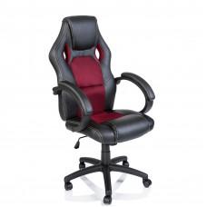 Racing Irodai szék - Fekete/burgundy Előnézet