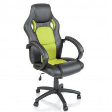 Racing Irodai szék - Fekete/világos zöld Előnézet