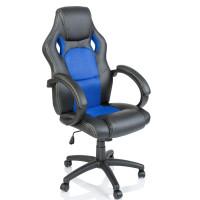 Aga Racing Irodai szék RS014 - Fekete/kék
