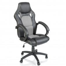 Aga Racing Irodai szék - Fekete/szürke Előnézet