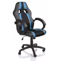 Tresko Racing Irodai szék RS024 - Fekete/Világos kék