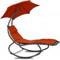 Linder Exclusiv Kerti napozóágy napernyővel - Piros MC4356