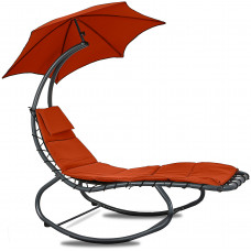 Linder Exclusiv Kerti napozóágy napernyővel - Piros MC4356 Előnézet