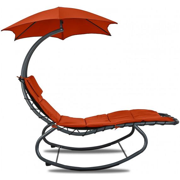 Kerti napozóágy napernyővel Linder Exclusiv MC4356 - Piros