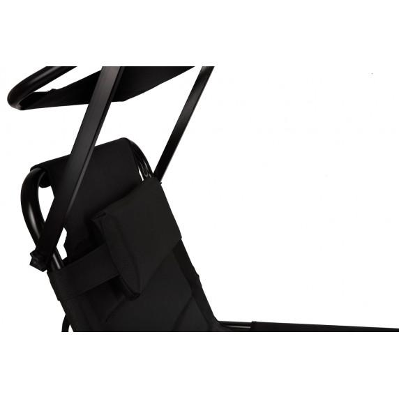 Linder Exclusiv XXL Kerti napozóágy árnyékolóval MC4400SSD - Fekete