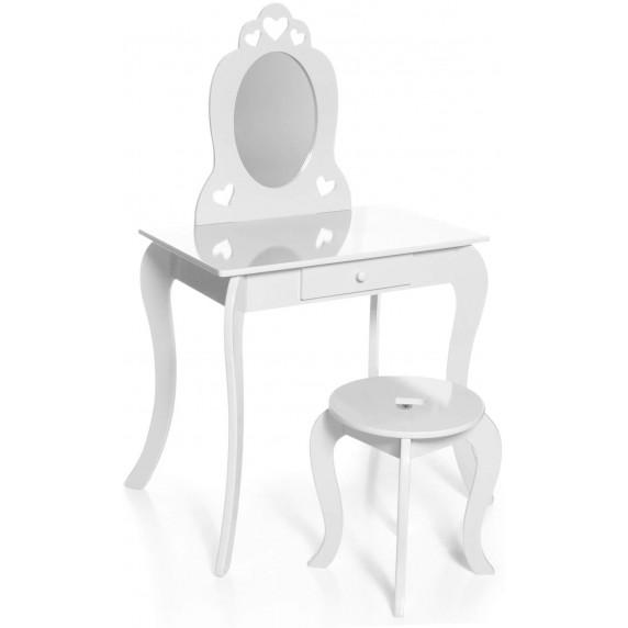 Aga4Kids Fésülködő asztal gyerekeknek MRDTC01W - fehér