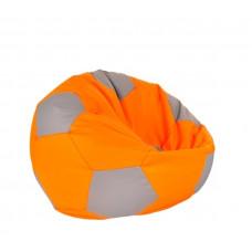 AGA Babzsákfotel - Narancssárga/Szürke Előnézet