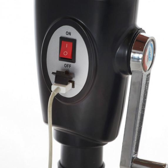Aga CLASSIC 300 cm napernyő LED + USB - kávé