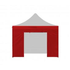 Aga oldalfal ajtóval PARTY 3x3 m - Piros Előnézet