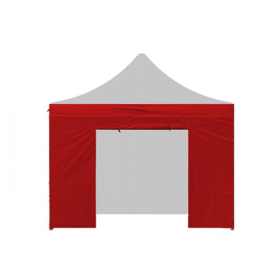 Aga oldalfal ajtóval PARTY 3x3 m - Piros