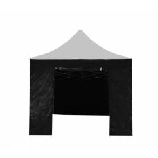 Aga oldalfal ajtóval POP UP 3x3 m - Fekete Előnézet
