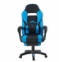 Irodai szék lábtámasszal Aga MR2040SKyBlue - Fekete/világoskék