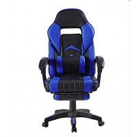 Irodai szék lábtámasszal Aga MR2040Blue - Fekete/kék