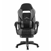 Irodai szék lábtámasszal Aga MR2040Grey - Fekete/szürke