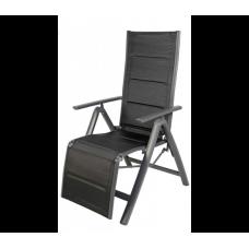 Alumínium kerti szék Linder Exclusiv Venezia - Fekete Előnézet