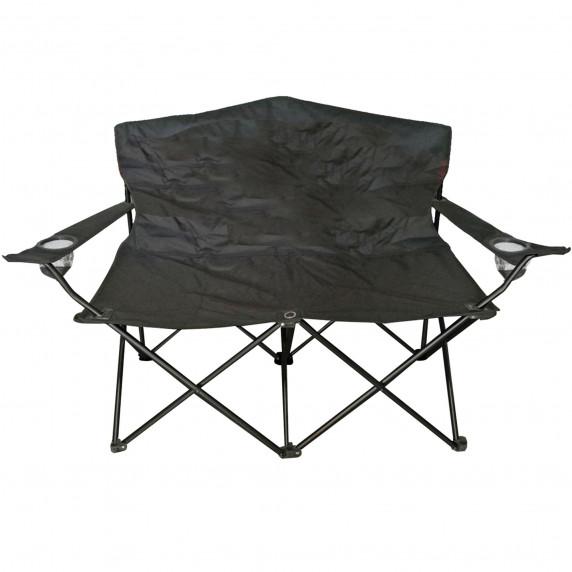 Kétszemélyes kemping szék Linder Exclusiv ANGLER MC2505 - Fekete