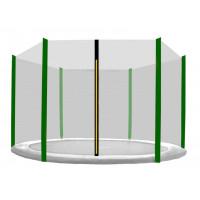 AGA védőháló 150 cm átmérőjű trambulinhoz 6 rudas - Sötétzöld