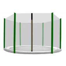 Külső védőháló 150 cm átmérőjű trambulinhoz 6 rudas AGA - Fekete/sötét zöld Előnézet