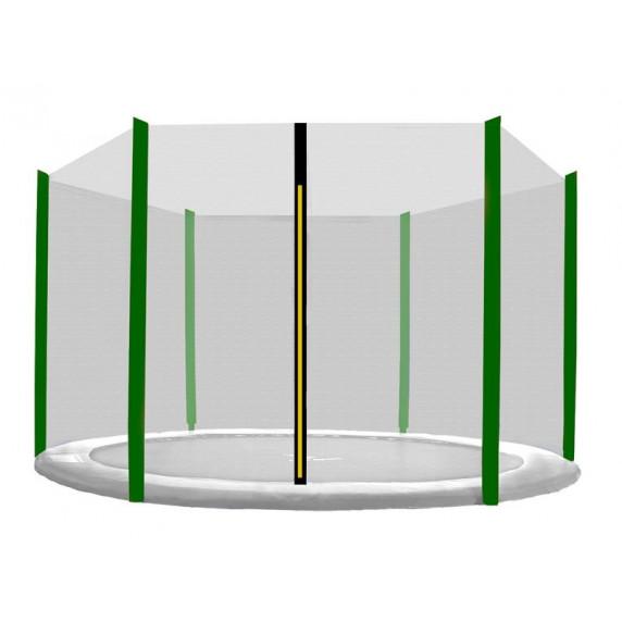 Külső védőháló 150 cm átmérőjű trambulinhoz 6 rudas AGA - Fekete/sötét zöld