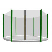 Külső védőháló 180 cm átmérőjű trambulinhoz 6 rudas AGA - Fekete/sötét zöld