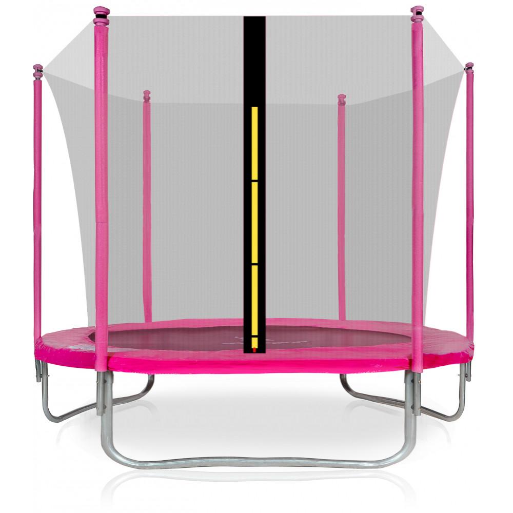 Aga SPORT FIT 250 cm trambulin belső védőhálóval Rózsaszín | Belső védőhálós | Inlea.hu a játék webáruház