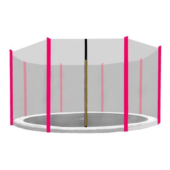 Külső védőháló 366 cm átmérőjű trambulinhoz 8 rudas AGA - Fekete/rózsaszín
