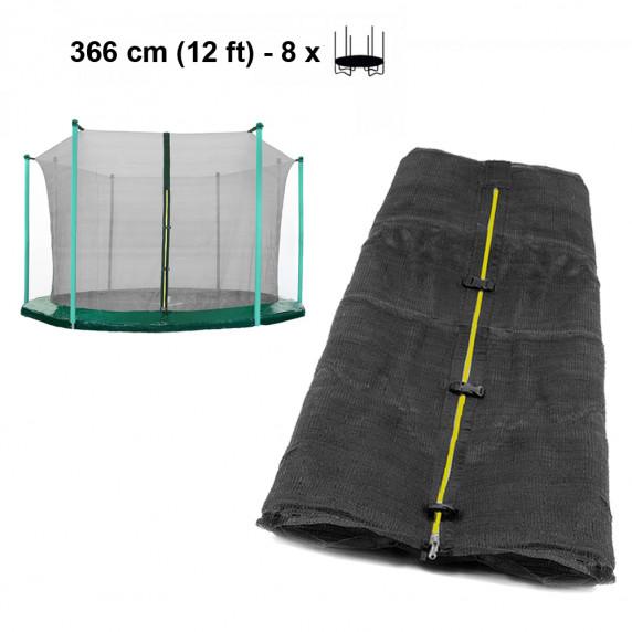 Belső védőháló 366 cm átmérőjű trambulinhoz 8 rudas AGA - Fekete