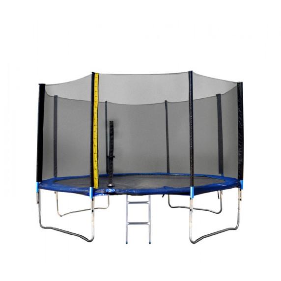 Trambulin XXL létrával és takaróponyvával Linder Exclusiv 430 cm - Kék