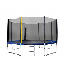 Trambulin XXL létrával és takaróponyvával Linder Exclusiv 400 cm - Kék Előnézet