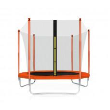 Aga SPORT FIT 180 cm trambulin belső védőhálóval - Narancssárga Előnézet