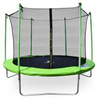 Aga SPORT FIT 305 cm trambulin belső védőhálóval - Világos zöld