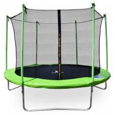 Aga SPORT FIT 305 cm trambulin belső védőhálóval - Világos zöld Előnézet