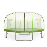 Aga SPORT FIT 430 cm trambulin belső védőhálóval - Világos zöld