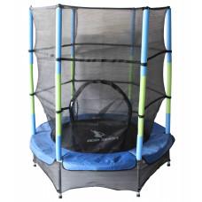 Aga gyerek trambulin védőhálóval 140 cm - Kék Előnézet