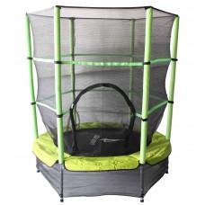 Aga gyerek trambulin védőhálóval 140 cm - Zöld Előnézet