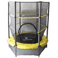 Aga gyerek trambulin védőhálóval 140 cm - Sárga Előnézet