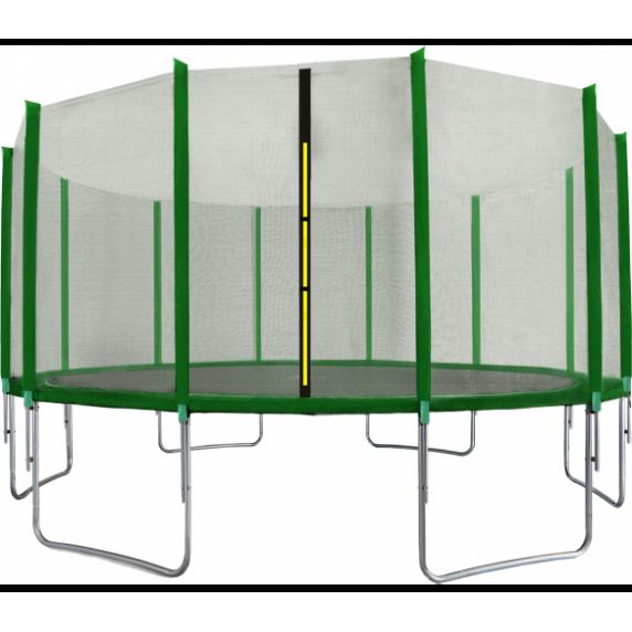 Trambulin 518 cm külső védőhálóval AGA SPORT TOP - sötét zöld
