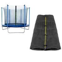 Belső védőháló 305 cm átmérőjű trambulinhoz 6 rudas SPARTAN - fekete