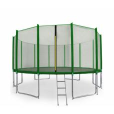 AGA SPORT PRO 500 cm trambulin + létra és cipőtartó - Sötét zöld Előnézet