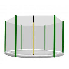 AGA védőháló 305 cm átmérőjű trambulinhoz 6 rudas - Sötét zöld Előnézet