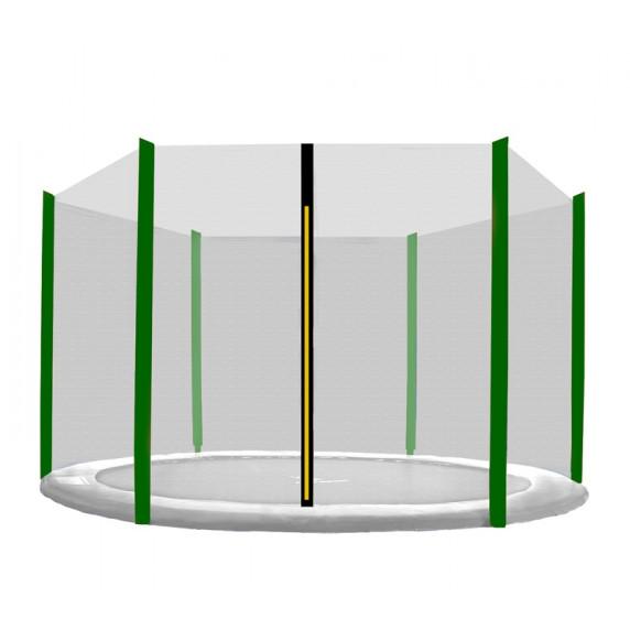 Külső védőháló 305 cm átmérőjű trambulinhoz 6 rudas AGA - Fekete/sötét zöld