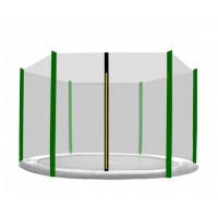 Külső védőháló 400 cm átmérőjű trambulinhoz 6 rudas AGA - Fekete/Sötét zöld