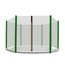 AGA védőháló 400 cm átmérőjű trambulinhoz 6 rudas - Fekete/Sötét zöld Előnézet