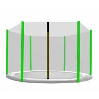 AGA védőháló 430 cm átmérőjű trambulinhoz 6 rudas - Fekete/Világos zöld