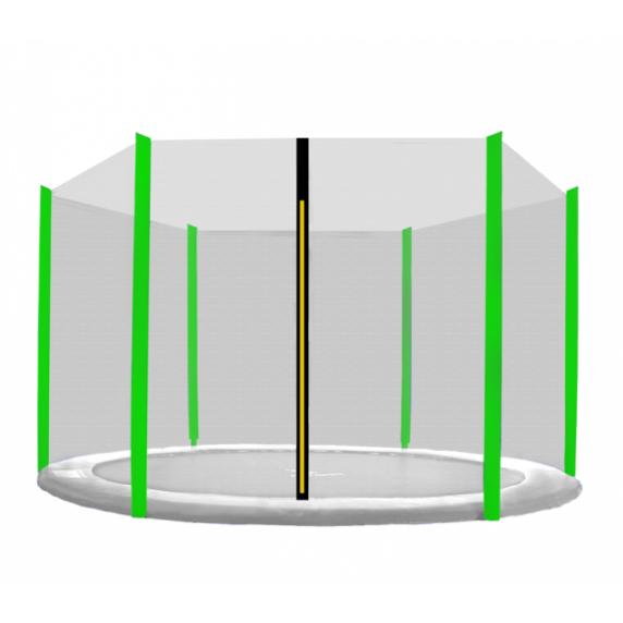 Külső védőháló 430 cm átmérőjű trambulinhoz 6 rudas AGA - Fekete/Világos zöld