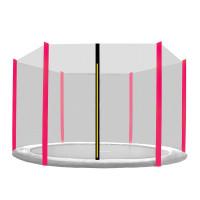 Külső védőháló 430 cm átmérőjű trambulinhoz 6 rudas AGA - Fekete/rózsaszín